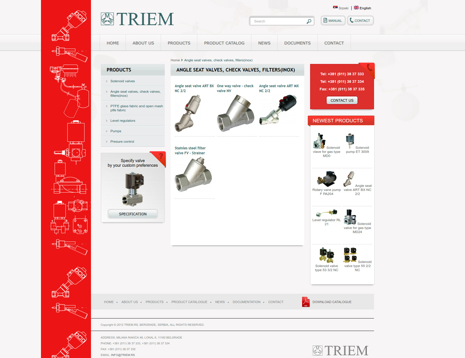 Triem product category page