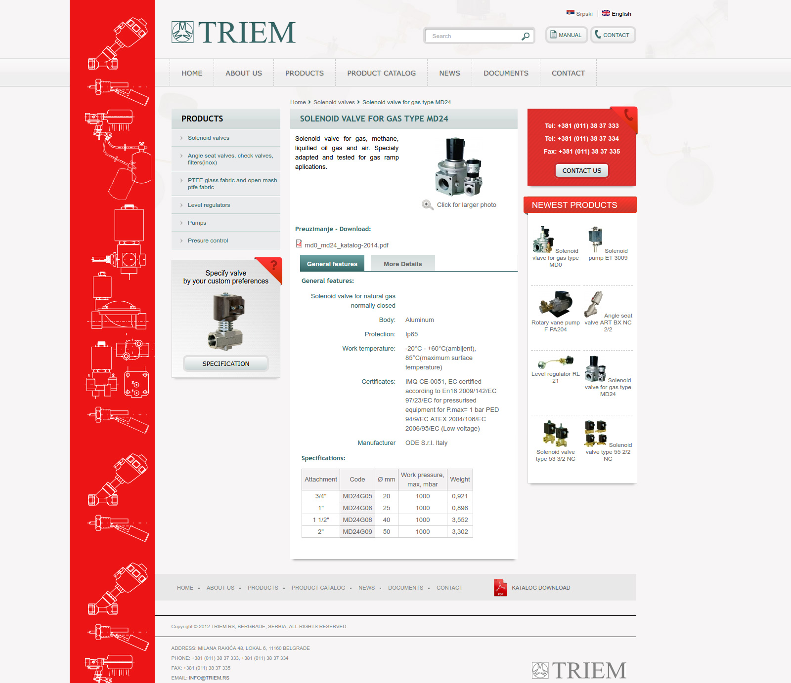 Triemproduct single page